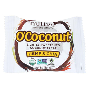 Nutiva Organic O Coconut Bar - Hemp And Chia - .5 Oz - Case Of 24