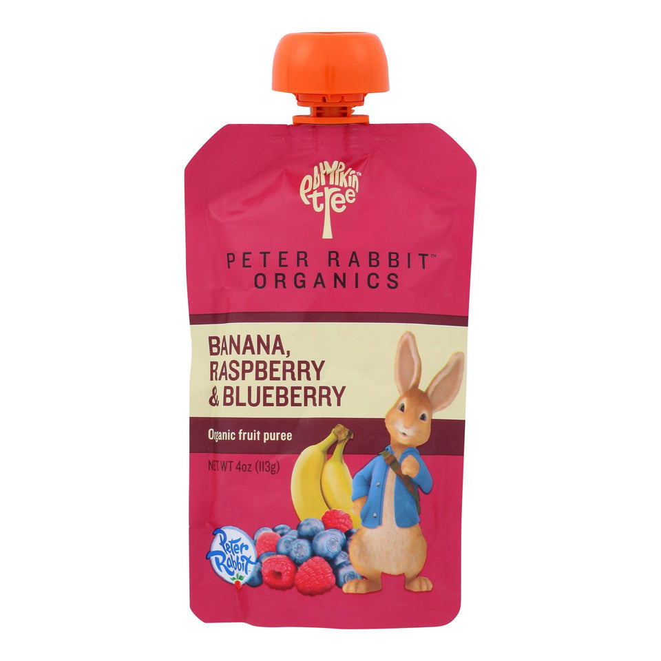 Peter Rabbit Organics Fruit Snacks - Raspberry, Banana And Blueberry - Case Of 10 - 4 Oz.