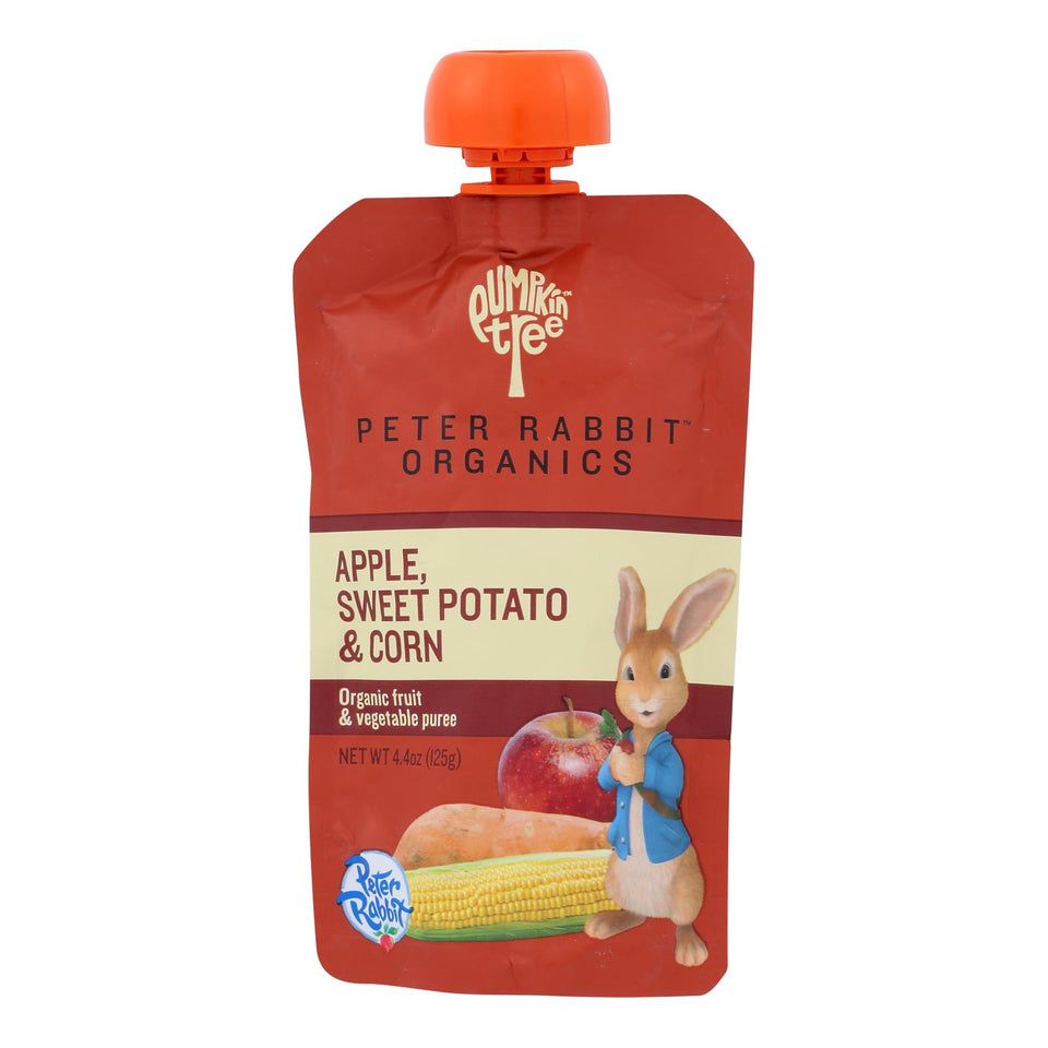 Peter Rabbit Organics Veggie Snacks - Sweet Potato, Corn And Apple - Case Of 10 - 4.4 Oz.