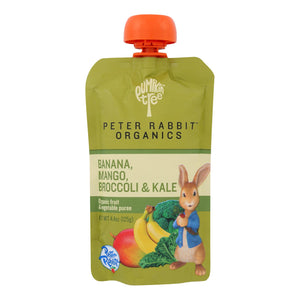 Peter Rabbit Organics Veggie Snacks - Kale, Broccoli And Mango With Banana - Case Of 10 - 4.4 Oz.