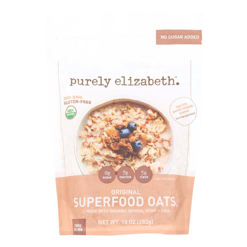 Purely Elizabeth Oatmeal - Organic - Ancient Grain - Original - 10 Oz - Case Of 6