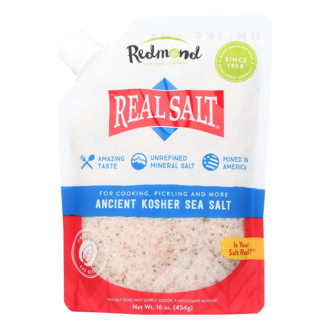 Real Salt Gourmet Kosher Sea Salt - 16 Oz - Case Of 6