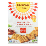 Simple Mills Sun Dried Tomato And Basil Almond Flour Crackers - Case Of 6 - 4.25 Oz.