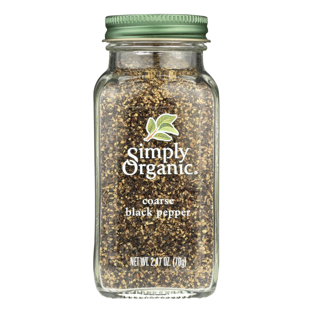 Simply Organic Black Coarse Grind Pepper - Case Of 6 - 2.47 Oz.