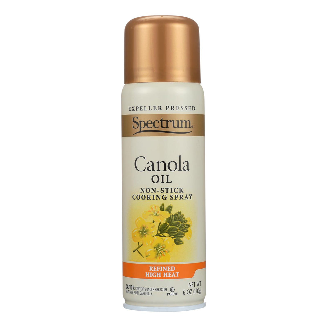 Spectrum Naturals Spray Oil - Canola - High Heat - 6 Oz - Case Of 6