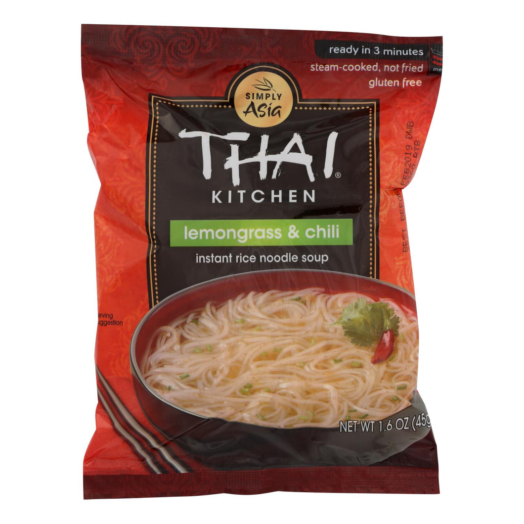 Thai Kitchen Instant Rice Noodle Soup - Lemongrass And Chili - Medium - 1.6 Oz - Case Of 6