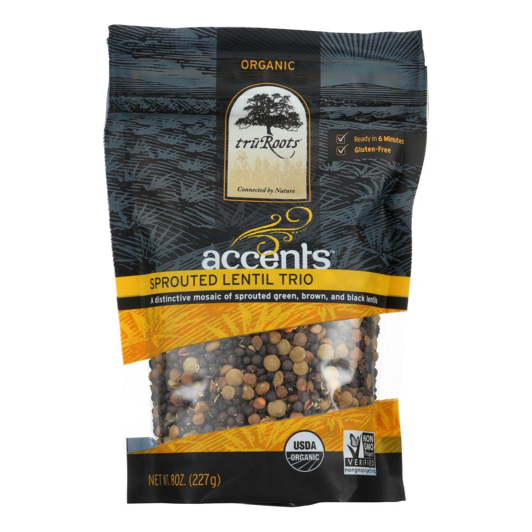 Truroots Organic Trio Lentils - Accents Sprouted - Case Of 6 - 8 Oz.