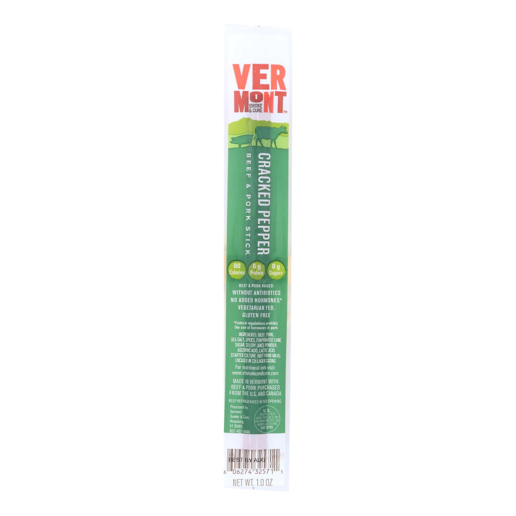 Vermont Smoke And Cure Realsticks - Cracked Pepper - 1 Oz - Case Of 24