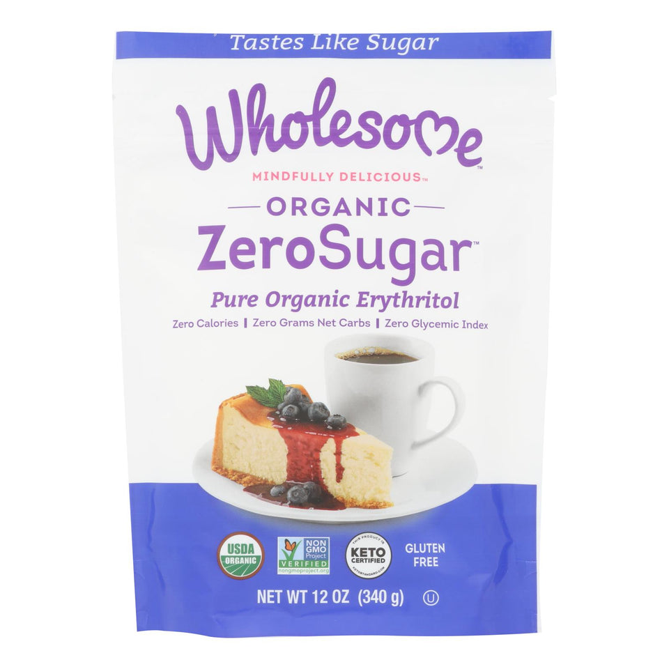 Wholesome Sweeteners Sweetener - All Natural - Calorie Free - Zero - Pouch - 12 Oz - Case Of 8