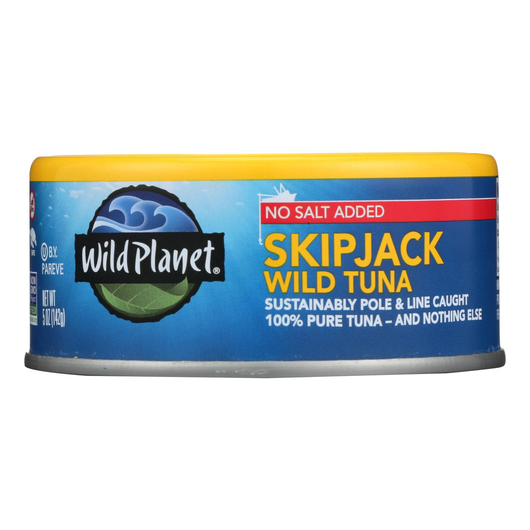 Wild Planet Wild Skipjack Light Tuna - No Salt Added - Case Of 12 - 5 Oz.