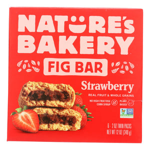 Nature's Bakery Stone Ground Whole Wheat Fig Bar - Strawberry - Case Of 6 - 2 Oz.