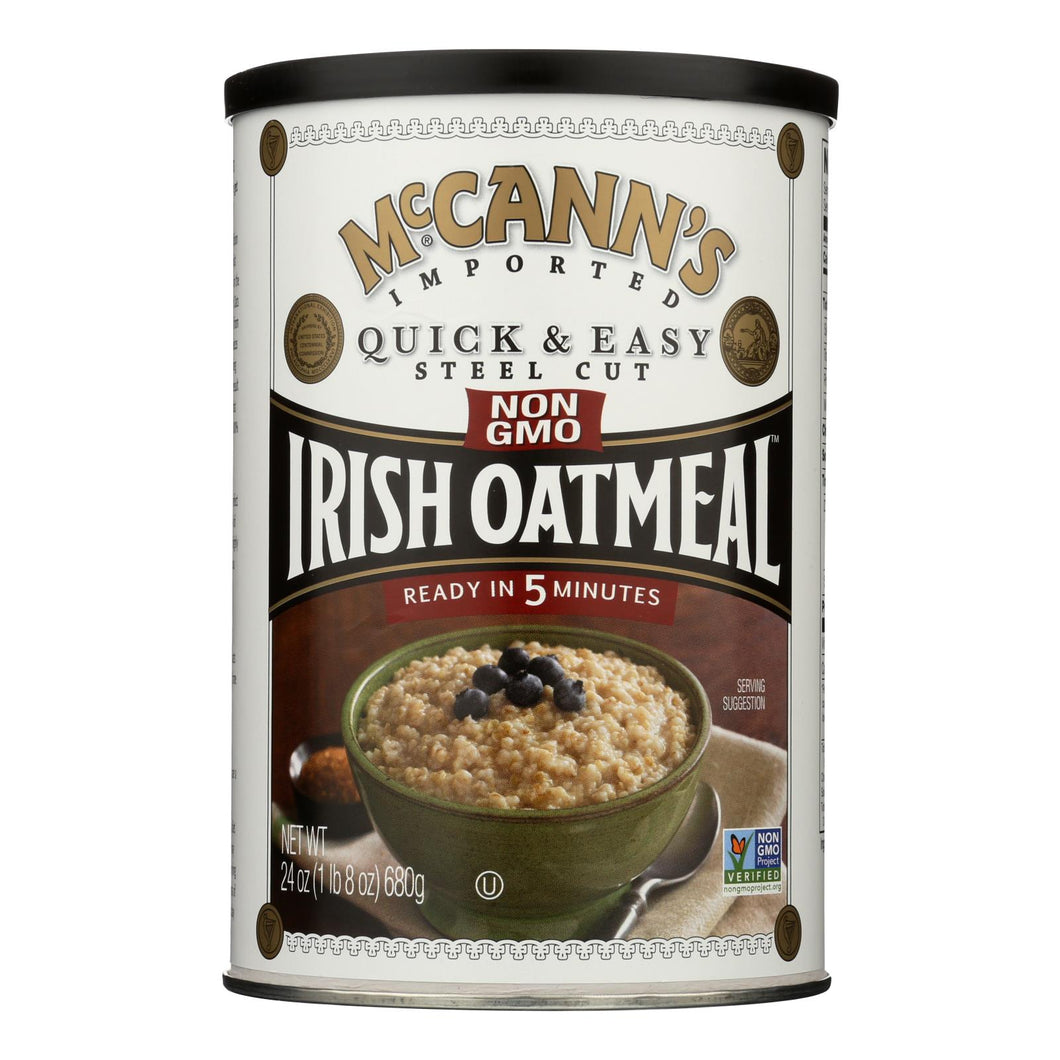 Mccann's Irish Oatmeal Quick And Easy Steel Cut - Case Of 12 - 24 Oz.