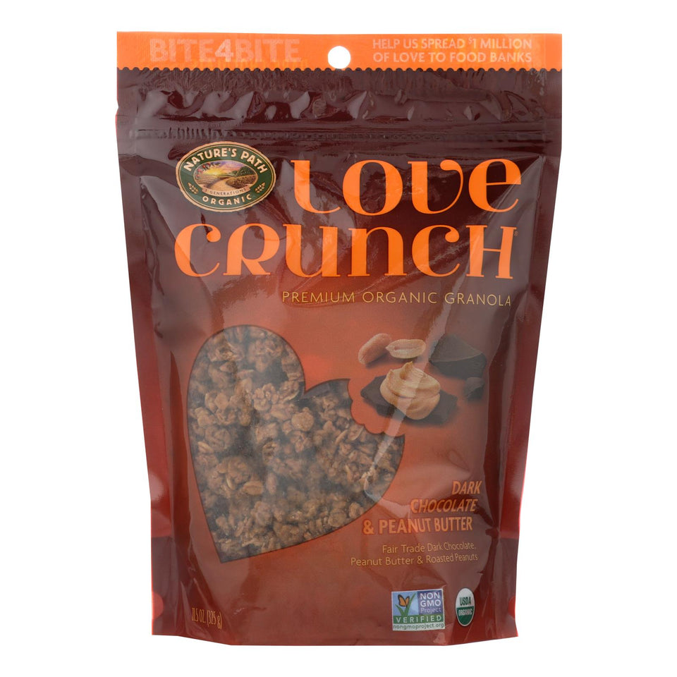 Nature's Path Organic Love Crunch Granola - Dark Chocolate And Peanut Butter - Case Of 6 - 11.5 Oz.