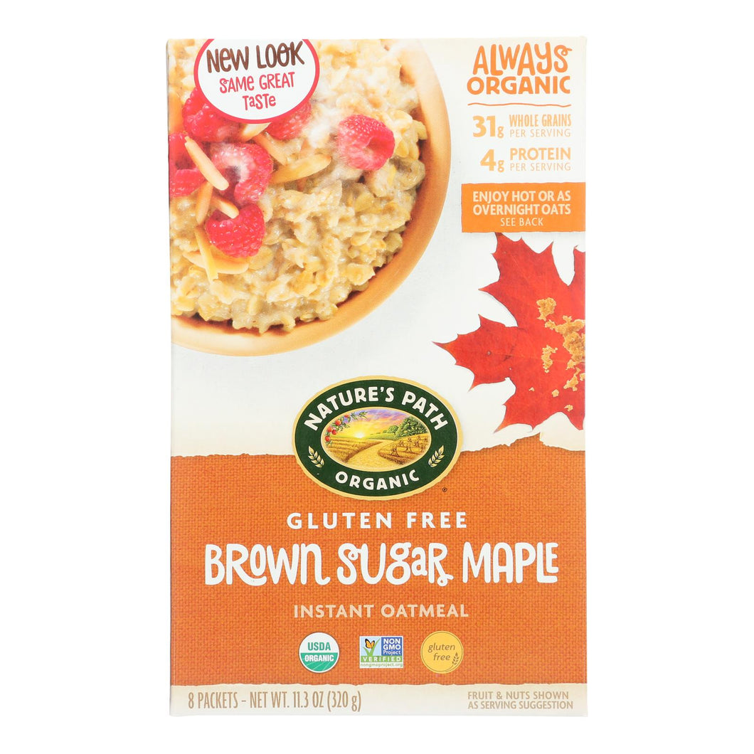 Nature's Path Organic Hot Oatmeal - Brown Sugar Maple - Case Of 6 - 11.3 Oz.