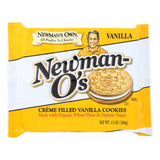 Newman's Own Organics Creme Filled Cookies - Vanilla - Case Of 6 - 13 Oz.