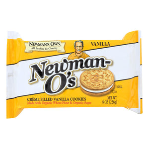 Newman's Own Organics Creme Filled Cookies - Vanilla - Case Of 6 - 8 Oz.