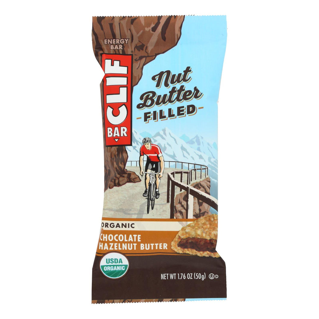 Clif Bar Organic Nut Butter Filled Energy Bar - Chocolate Hazelnut Butter - Case Of 12 - 1.76 Oz.