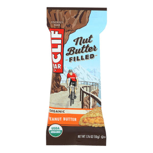 Clif Bar Organic Nut Butter Filled Energy Bar - Peanut Butter - Case Of 12 - 1.76 Oz.