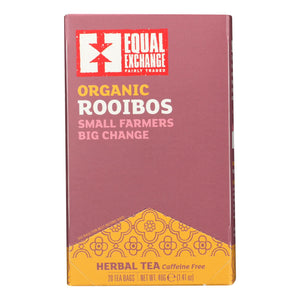 Equal Exchange Organic Rooibos Tea - Rooibos Tea - Case Of 6 - 20 Bags