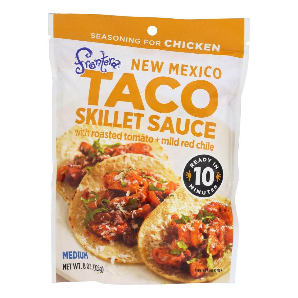 Frontera Foods New Mexico Taco Skillet Sauce - New Mexico - Case Of 6 - 8 Oz.