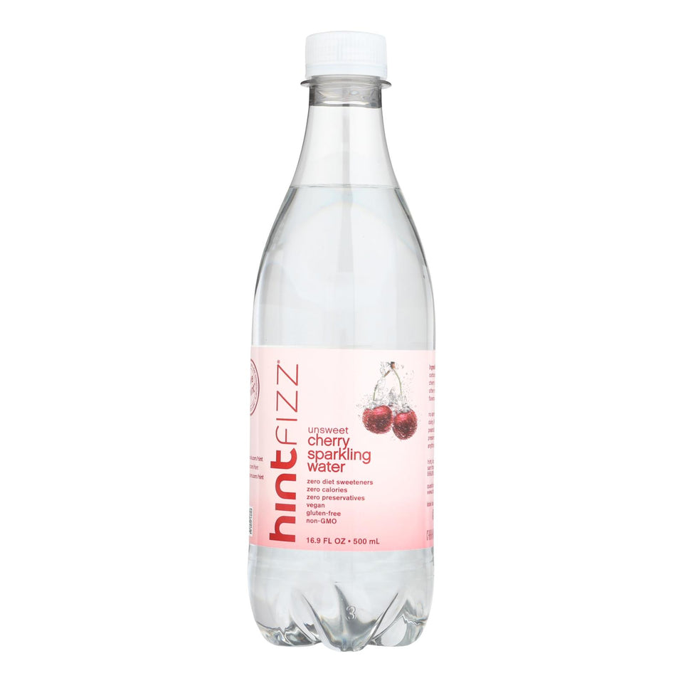 Hint Fizz Sparkling Water - Cherry - Case Of 12 - 16.9 Fl Oz.