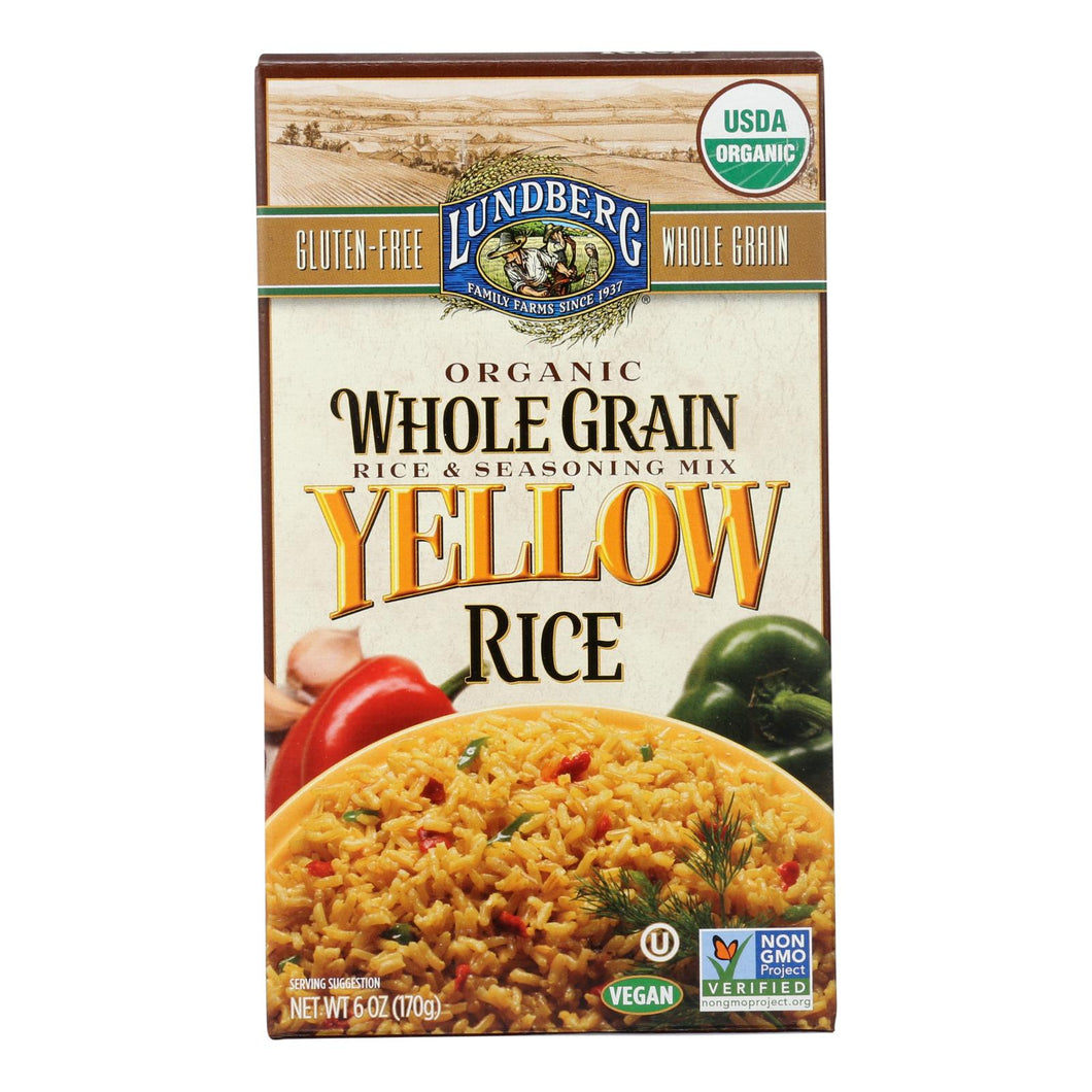 Lundberg Family Farms Organic Whole Grain Yellow Rice - Case Of 6 - 6 Oz.
