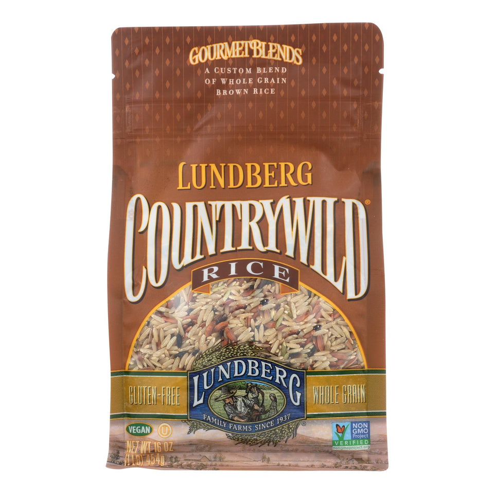 Lundberg Family Farms Country Wild Gourmet Blend Brown Rice - Case Of 6 - 1 Lb.