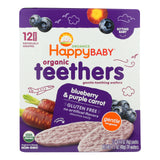 Happy Baby Teethers - Organic - Gentle - Blueberry And Purple Carrot - 1.7 Oz - Case Of 6