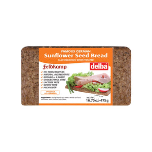 Feldkamp Bread - Sunflower Seed - Case Of 12 - 17.6 Oz