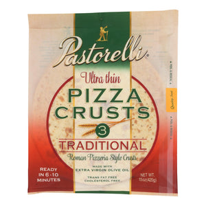 Pastorelli Pizza Crust - Ultra Thin - White - Case Of 10 - 15 Oz