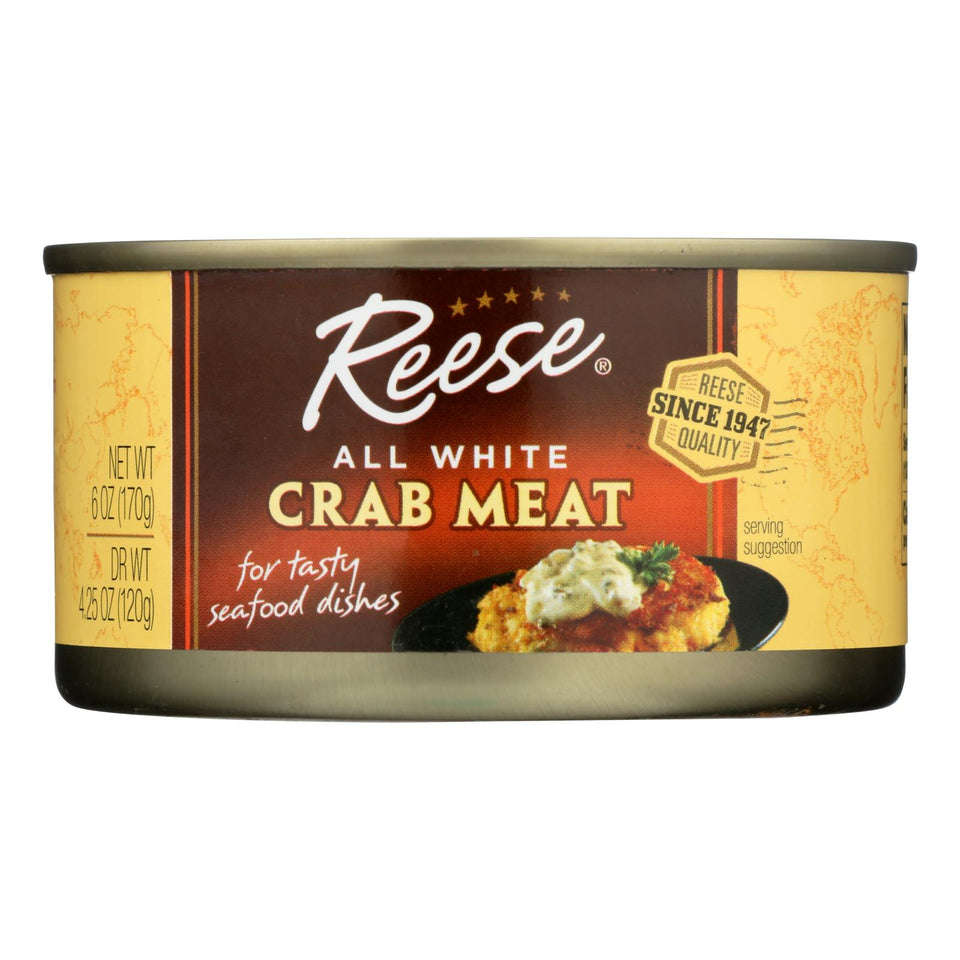 Reese Crabmeat - All White - Case Of 12 - 6 Oz