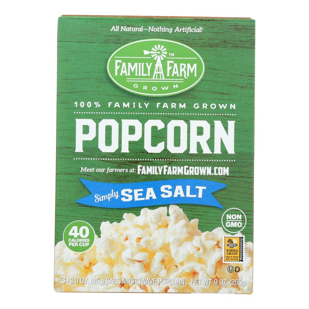 Black Jewell Popcorn - Micro - Sea Salt - Case Of 6 - 9 Oz