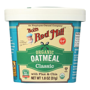 Bob's Red Mill - Oatmeal - Organic - Cup - Classc - Gluten Free - Case Of 12 - 1.8 Oz