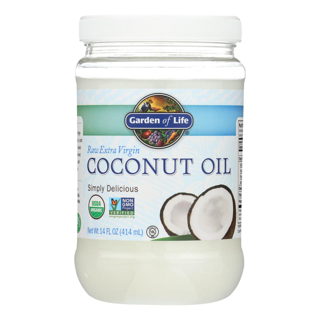 Garden Of Life Organic Coconut Oil - Raw Extra Virgin - Case Of 6 - 14 Fl Oz
