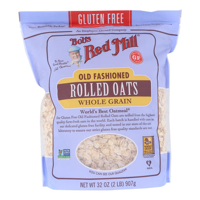 Bob's Red Mill - Old Fashioned Rolled Oats - Gluten Free - Case Of 4-32 Oz.