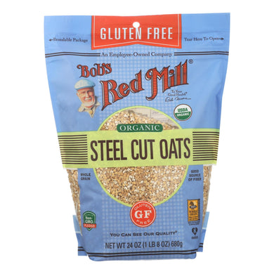Bob's Red Mill - Organic Steel Cut Oats - Gluten Free - Case Of 4-24 Oz