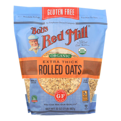 Bob's Red Mill - Organic Thick Rolled Oats - Gluten Free - Case Of 4-32 Oz