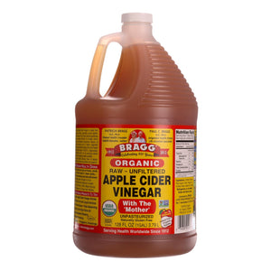 Bragg - Apple Cider Vinegar - Raw And Unfiltered - Case Of 4 - 1 Gallon