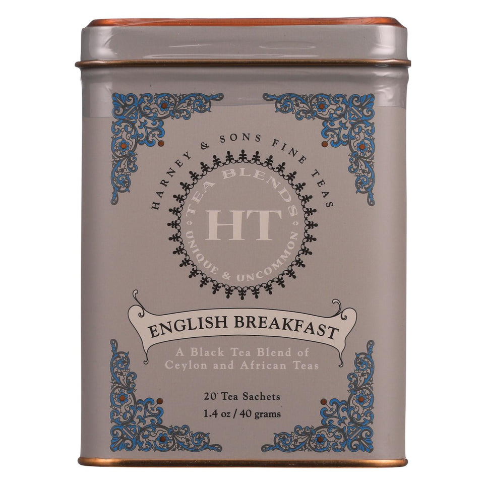 Harney And Sons - Tea - English Breakfast - Case Of 4 - 20 Count