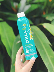 COOLA Organic Sunscreen Body Spray, Pina Colada, SPF 30 - myorganicals