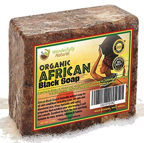 African Black Soap 1 Pound Bar | #1 Acne Treatment | Eczema Soap - myorganicals