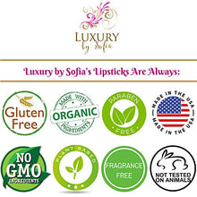 Luxury by Sofia Organic Lipstick | Natural, Non-Toxic, Moisturizing - myorganicals
