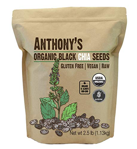 Anthony's Organic Chia Seed, 2.5lbs, Gluten Free, Vegan, Raw, Keto Friendly - myorganicals