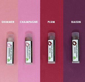 Organic Tinted Lip Balm by Sky Organics - 4 Pack Assorted Colors - myorganicals