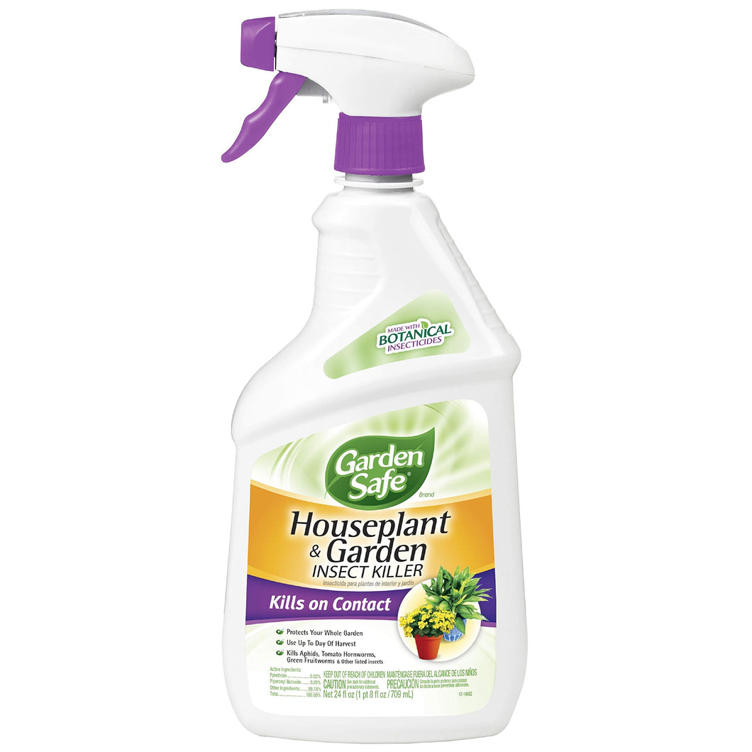 Garden Safe Brand Houseplant & Garden Insect Killer, Ready-to-Use, 24-Ounce, 4-Pack - myorganicals