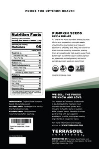 Terrasoul Superfoods Organic Pumpkin Seeds, 2 Lbs - Premium Quality | Fresh | Raw | Unsalted - myorganicals