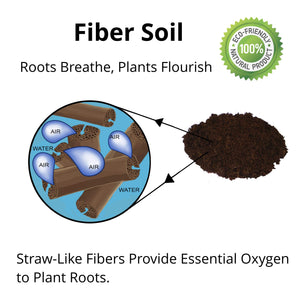 Fiber Soil (12 Quarts) Organic Potting Soil + Hydrating Bag - myorganicals