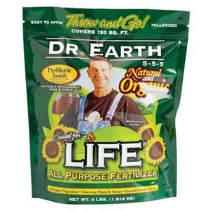 Dr. Earth 736P Life Organic All Purpose Fertilizer In Poly Bag, 4-Pound - myorganicals