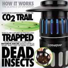 DynaTrap Insect Trap (DT1050), Twist On/Off, 1/2 Acre, Black - myorganicals
