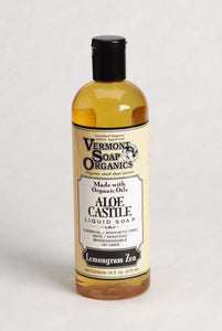 Vermont Soap Organics - Lemongrass Liquid Aloe Castile Soap 16oz - myorganicals